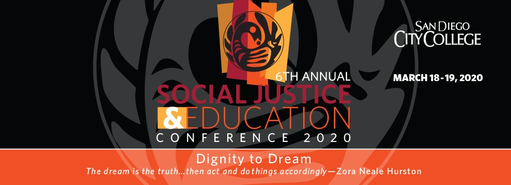 Poster for the social justice conference