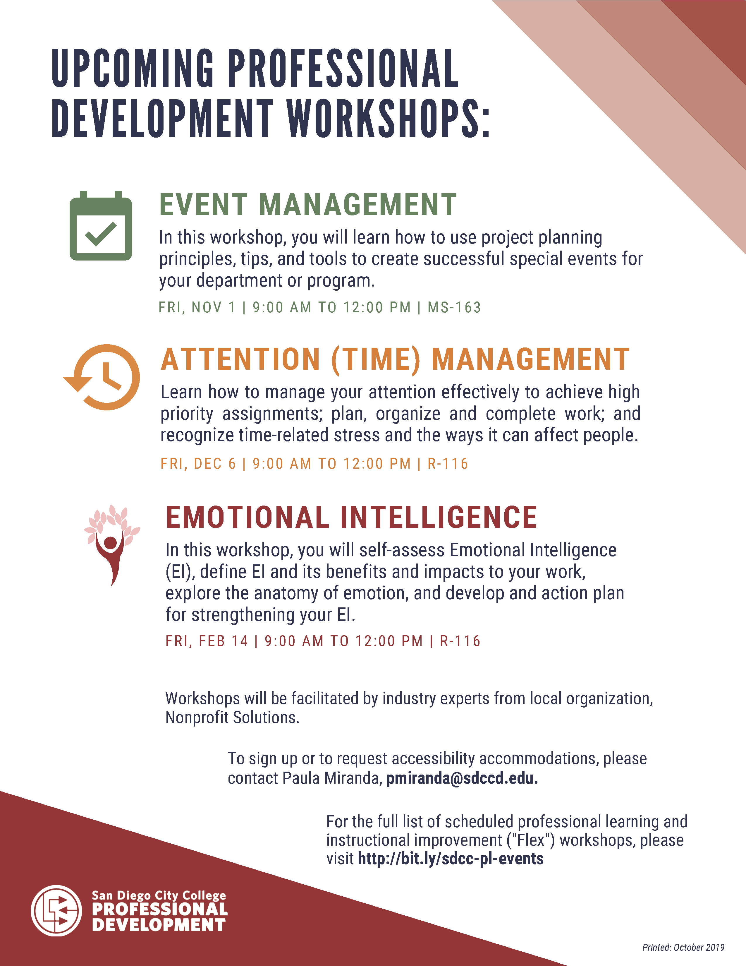 FLYER - Event, Attention (Time) Management; Emotional Intelligence